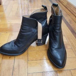 Zara Leather Booties